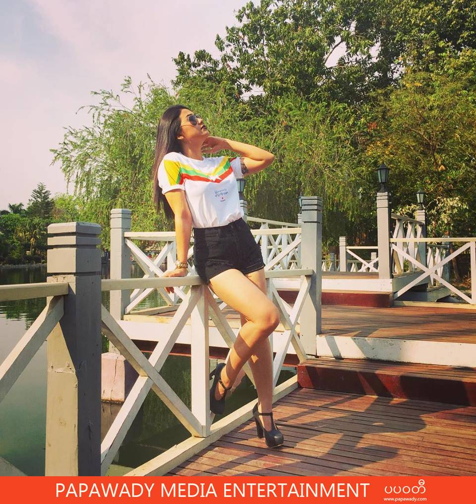 15 Pictures of Thinzar Wint Kyaw In March in Gym Workout Photoshoot , Fashion Dress , Myanmar Football Jersey