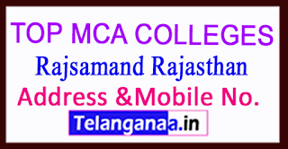 Top MCA Colleges in Rajsamand Rajasthan