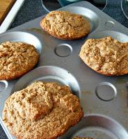 Banana Crumb Muffin Tops, a whole grain recipe.