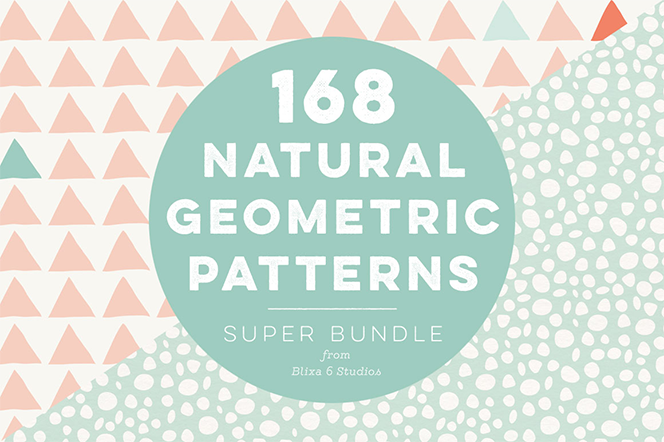168 Natural Geometric Patterns - Blixa 6 Studios