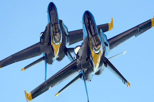 Navy Blue Angels Super Hornet