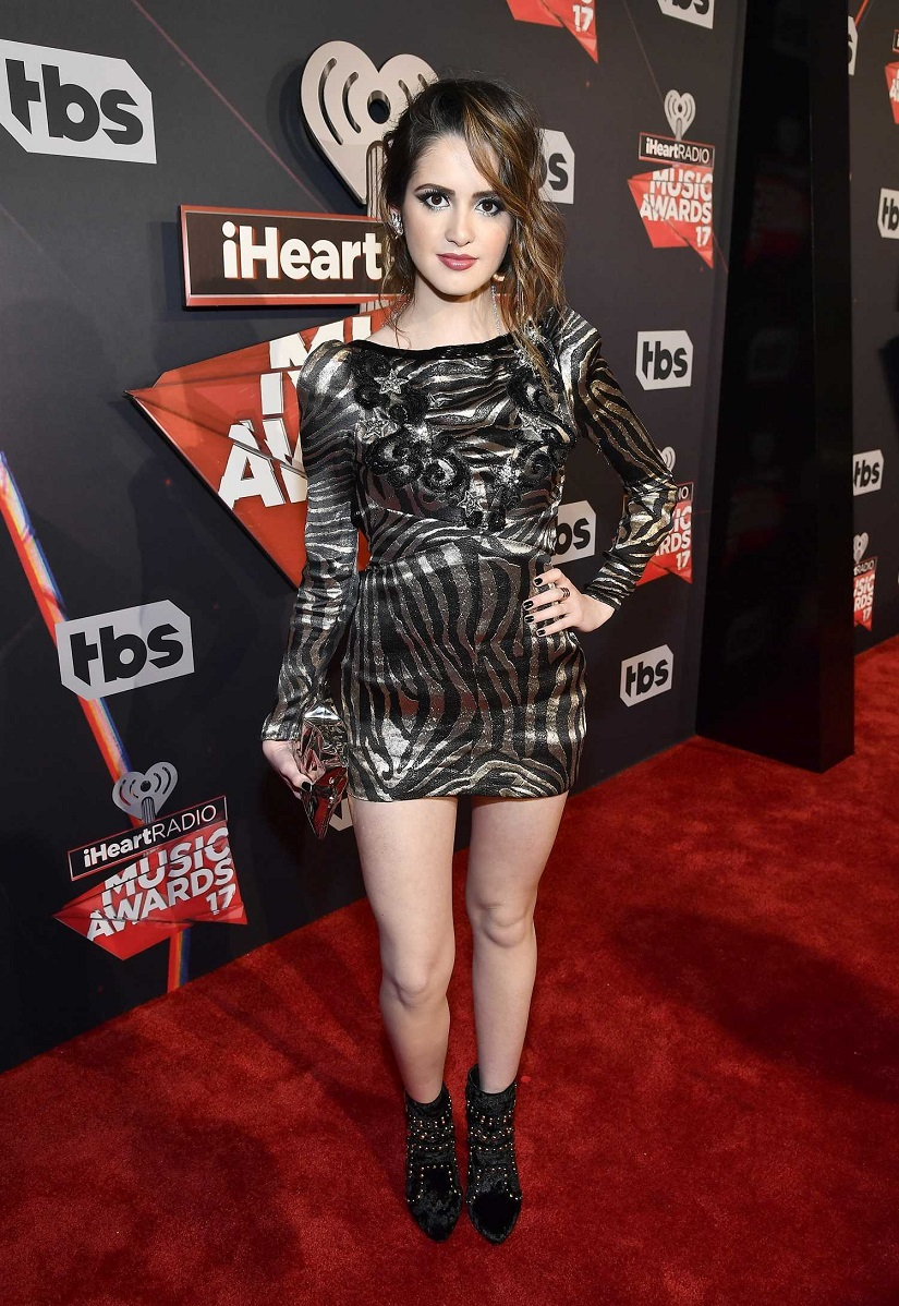 Laura Marano exposes skin at the 2017 iHeartRadio Music Awards in LA