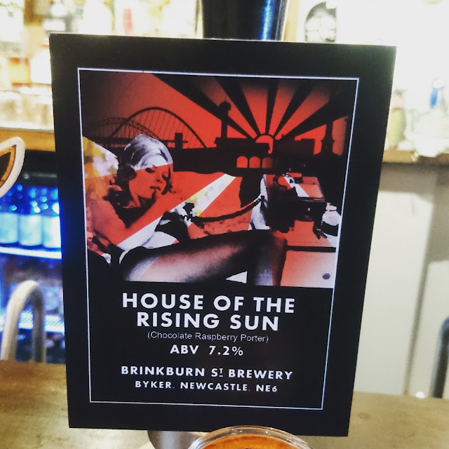 Northumberland Craft Beer Review: House of the Rising Sun from Brinkburn St. Brewery real ale pump clip