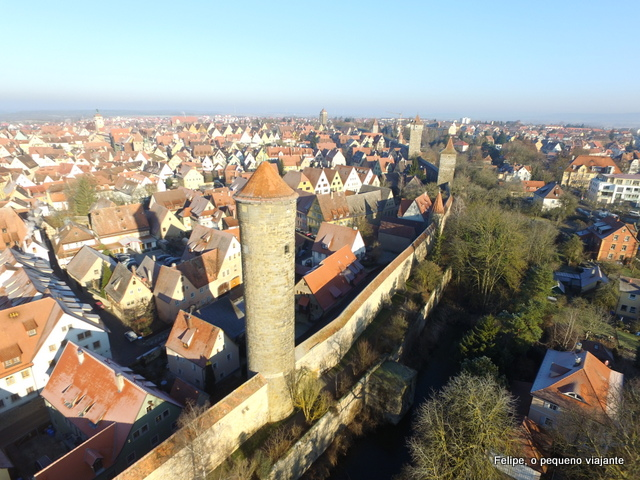 Rothenburg ob der Tauber drone