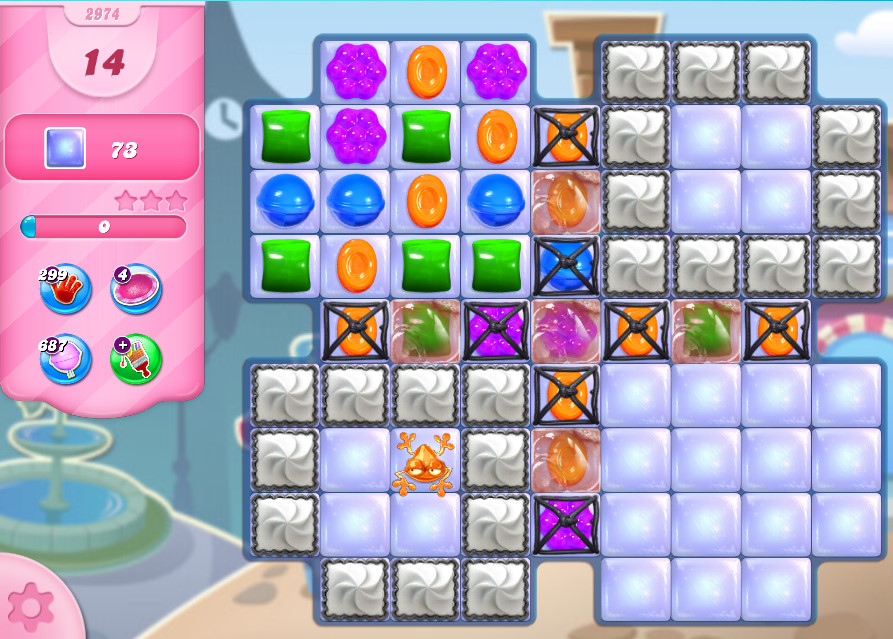Candy Crush Saga level 2974