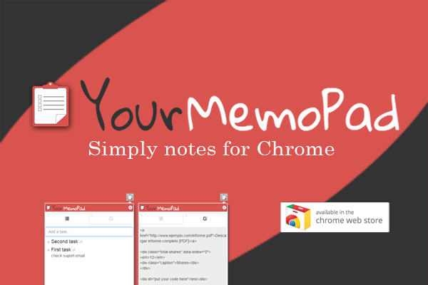 YourMemoPad - Google Chrome Extension