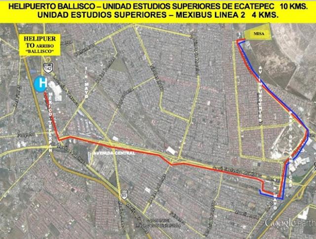 Ecatepec, recorrido Papa Francisco