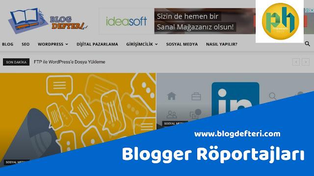 Blogger Röportajları: www.blogdefteri.com