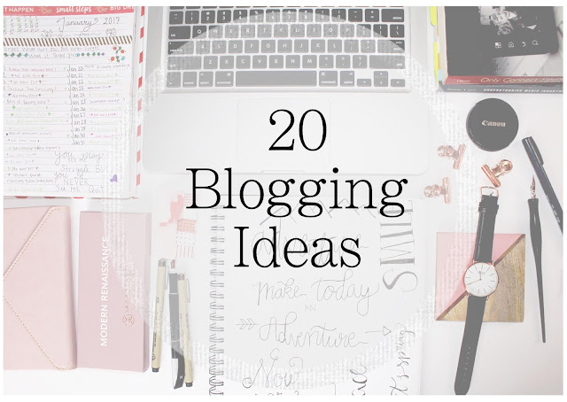 Ideas for blog post