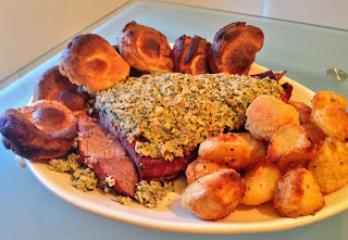 Roast Rib of Beef with Horseradish Breadcrumbs & Yorkshire Puddings