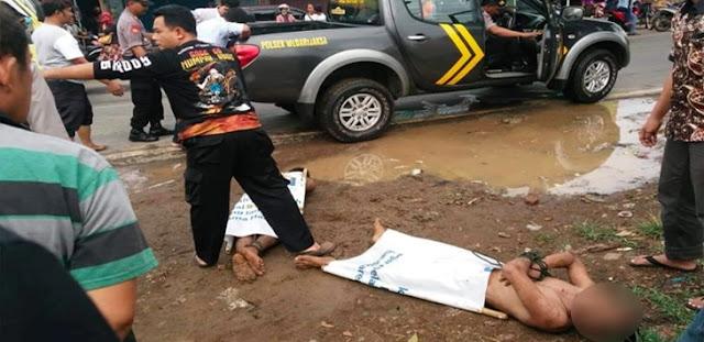 Mesum di Mobil, 2 Pelaku Diikat di Pasar Trangkil tanpa Busana