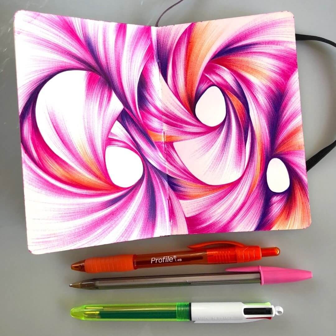 09-Jennifer-Johansson-Abstract-Colourful-Ballpoint-Pen-Drawings-www-designstack-co