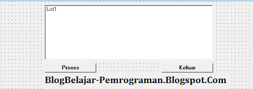Tutorial Penggunaan ListBox di Visual Basic 6.0, ListBox pada VB 6.0,