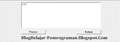 Tutorial Penggunaan ListBox di Visual Basic 6.0, ListBox pada VB 6.0,