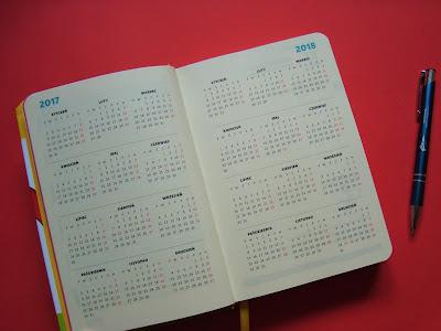 kalendarz 2017, Rok dobrych myśli, Beata Pawlikowska, fajny kalendarz książkowy