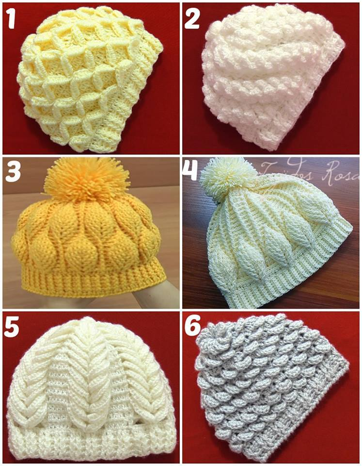 Children's Crochet Hats: Step by Step with Graphic