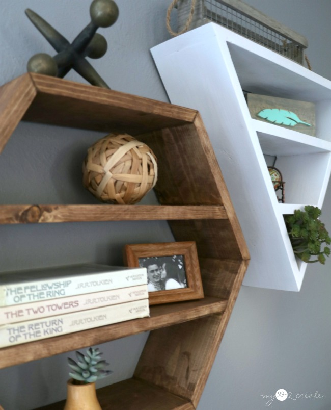 Hexagon and Triangle Shelves, MyLove2Create