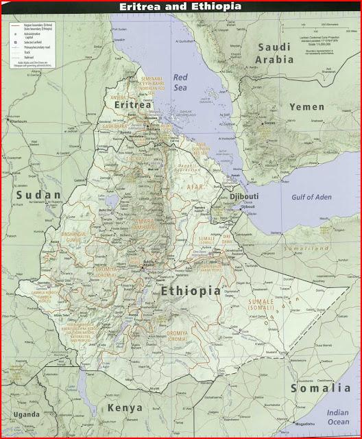 Gambar Peta politik Ethiopia
