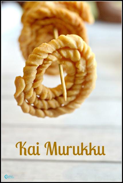 Puzhungal arisi KaiMurukku(Parboiled Rice Chakli)