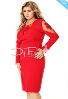 Comanda de aici rochia XXL de ocazie -rosu pasional acum cu livrare in  strainatate