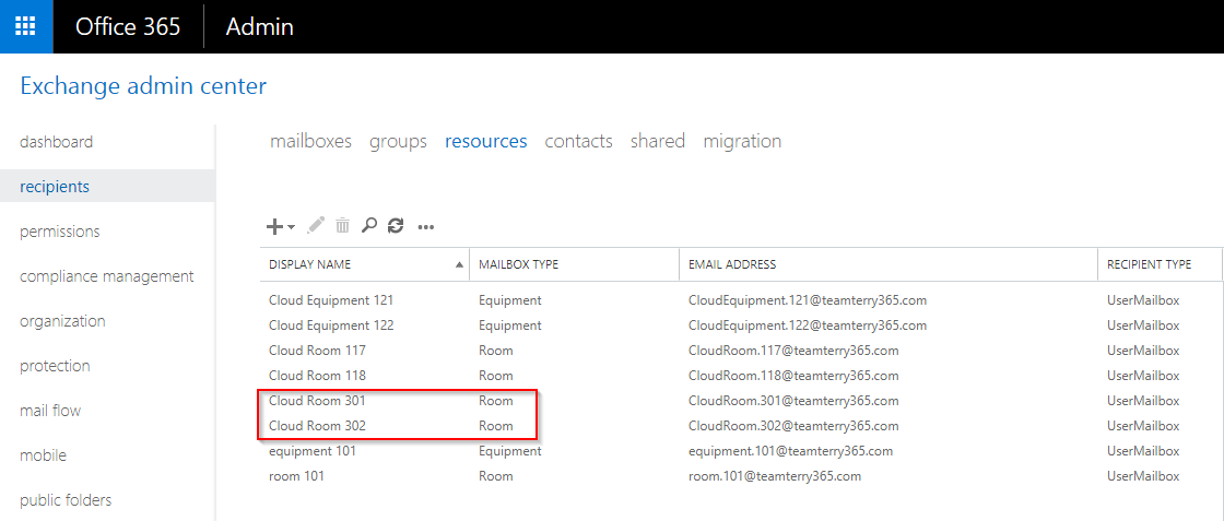 365 Admin: Hybrid Management - Part 10 - Creating Office 365 Room ...