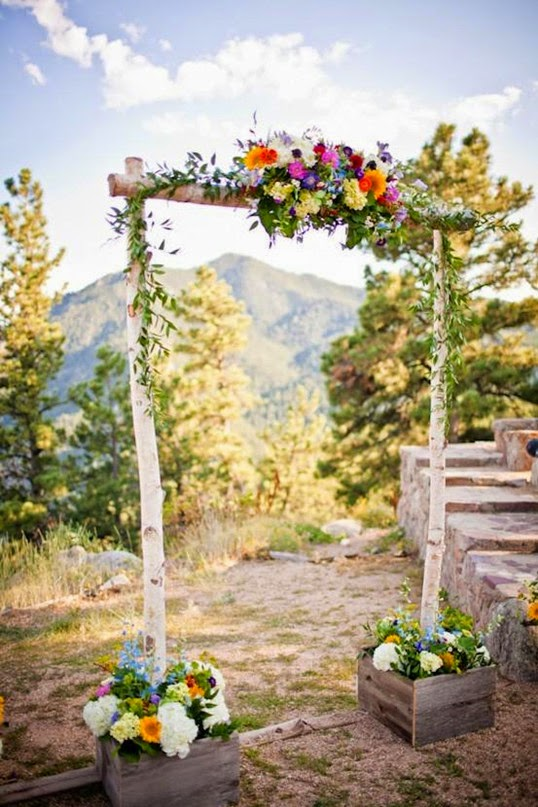 diy rustic garden wedding gate decorations for spring