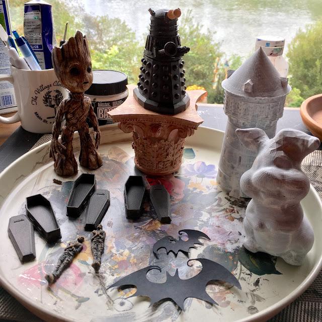 3D Printing Groot, Dalek, Coffin, Mummy via foobella.blogspot.com