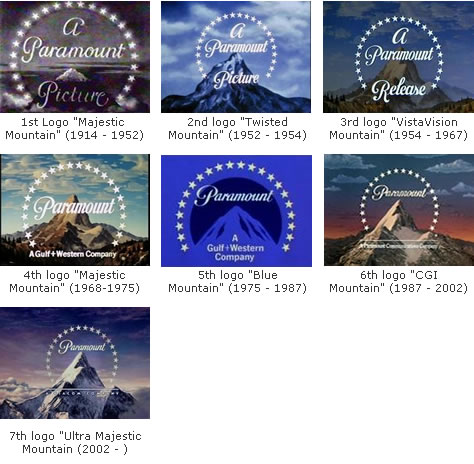 Paramount: The Majestic Mountain logo History