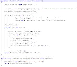Combining the jQuery FullCalendar plugin with ASP  NET MVC 3   but a