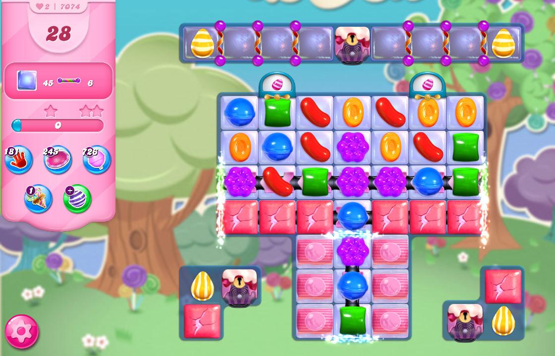 Candy Crush Saga level 7074