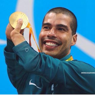 Brazilian Paralympic swimmer Daniel Dias