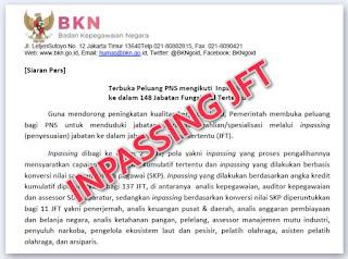 Terbuka, Peluang PNS Ikuti Inpassing pada 148 Jabatan Fungsional Tertentu