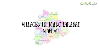 Manoharabad Mandal with villages