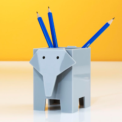 elephant pencil cup - acrylic