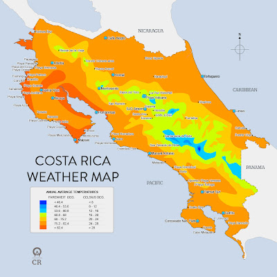 The Geography of Costa Rica: Costa Rica's Climate on geography of latin america map, geography of russia map, geography of peru map, geography of italy map, geography of sudan map, geography of greece map, geography of mexico map, geography of brazil map, geography of united states map, geography of india map, geography of spain map, geography of france map, geography of israel map, geography of north america map, geography of egypt map, geography of china map, geography of south africa map, geography of canada map, geography of usa map, geography of japan map,