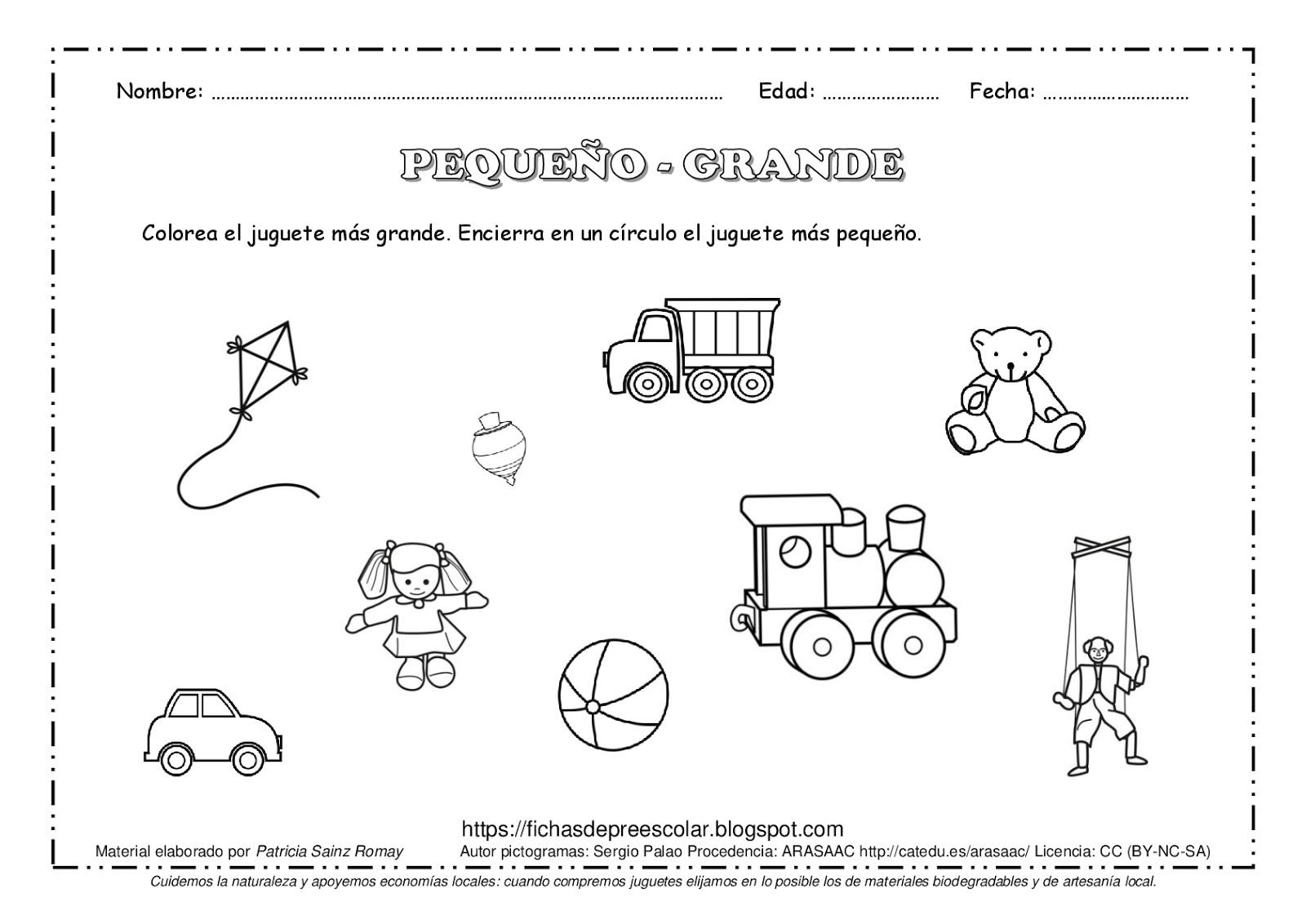 Fichas De Educacion Preescolar