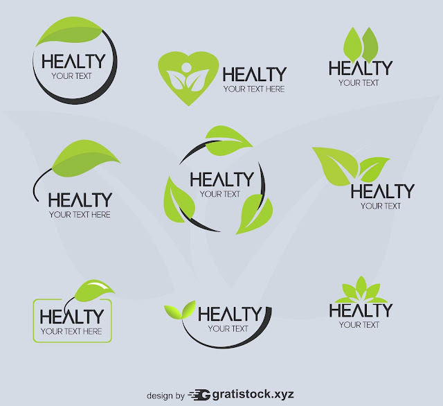 Free Download PSD Mockup of Simple Beauty Icon Healty Logos
