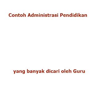 contoh format berkas file dokumen administrasi pendidikan