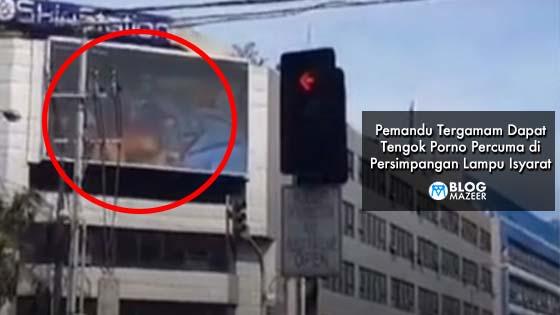 Pemandu Tergamam Dapat Tengok Porno Percuma di Persimpangan Lampu Isyarat