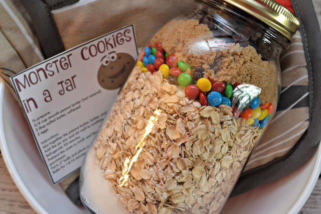 Monster Cookies in a Jar