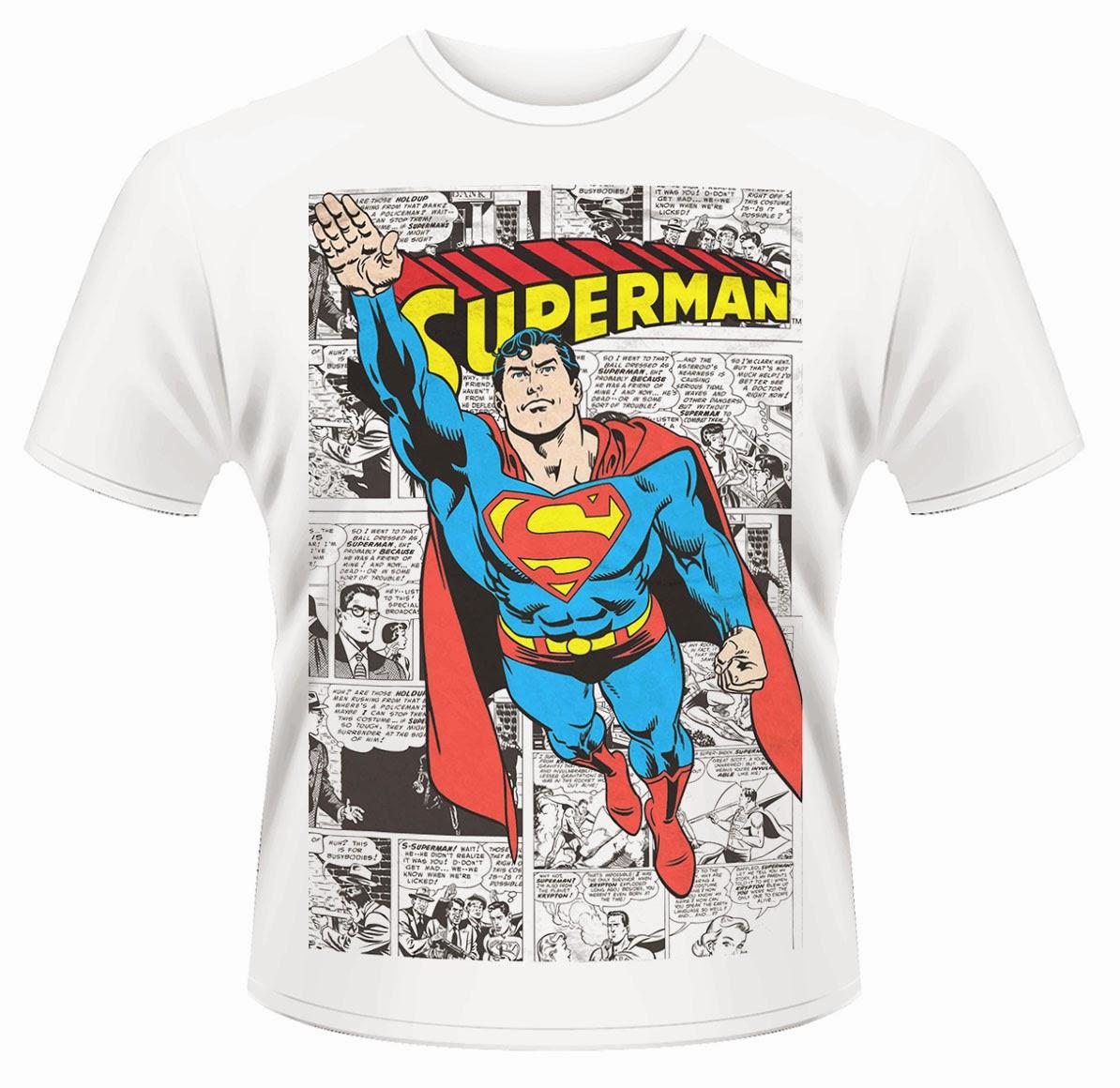 4edea412fb Acero y Magia: Camiseta Superman Comic Strip DC Comics
