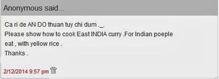 Nấu Cà ri dê Ấn Độ theo yêu cầu