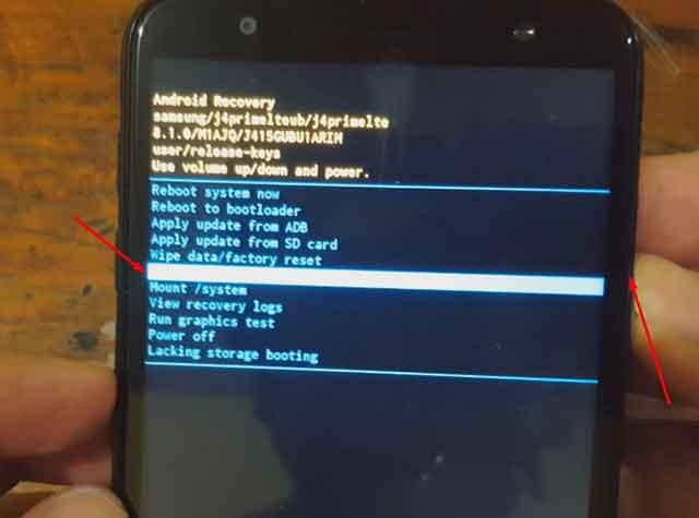 restaurar un Samsung Galaxy J4+