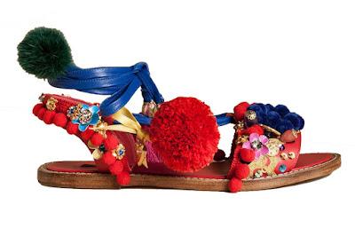 Sandalias con pompon de Dolce & Gabbana