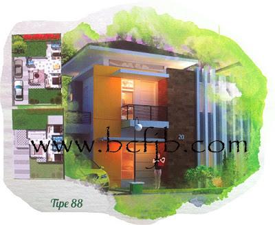 Rumah minimalis terbaik 2 lantai tipe 88 Harga Murah Di batam