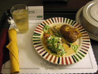 Room service at the Holiday Inn