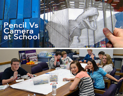 drawing lesson plan - school - pencil vs camera - ben heine