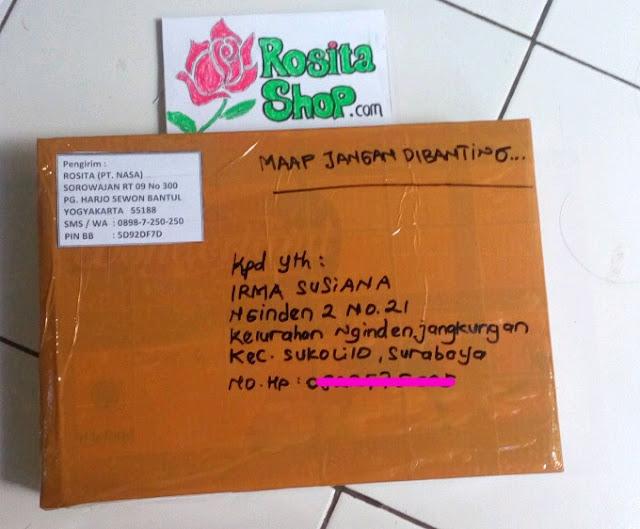 Bukti kirim rositashop ke Surabaya