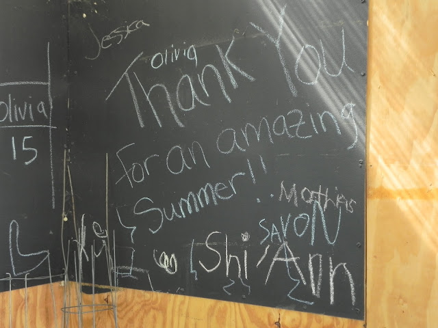 Thank-you message on chalkboard