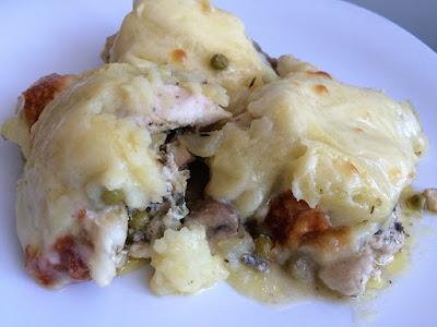 Kurczak zapiekany pod ziemniakami